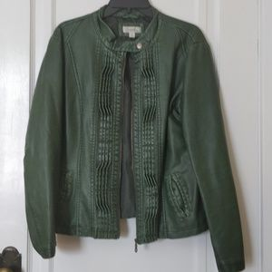 Fake green leather jacket Size XL